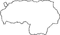 長野県南佐久郡川上村(かわかみむら)の白地図無料ダウンロード