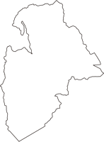 長野県諏訪郡下諏訪町(しもすわまち)の白地図無料ダウンロード