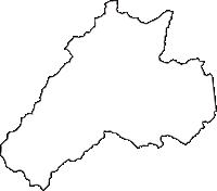 長野県上伊那郡辰野町(たつのまち)の白地図無料ダウンロード