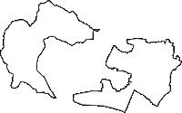 長野県上伊那郡南箕輪村(みなみみのわむら)の白地図無料ダウンロード