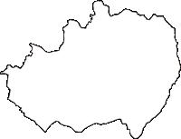 長野県上伊那郡中川村(なかがわむら)の白地図無料ダウンロード