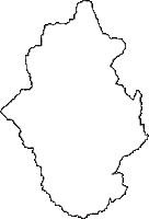 長野県下伊那郡阿智村(あちむら)の白地図無料ダウンロード