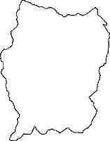 長野県下伊那郡売木村(うるぎむら)の白地図無料ダウンロード