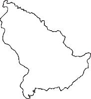 長野県下伊那郡泰阜村(やすおかむら)の白地図無料ダウンロード