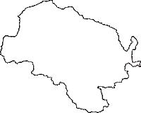 長野県木曽郡王滝村(おうたきむら)の白地図無料ダウンロード