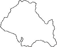 長野県木曽郡木曽町(きそまち)の白地図無料ダウンロード