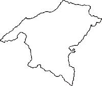 長野県東筑摩郡麻績村(おみむら)の白地図無料ダウンロード