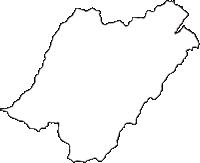 長野県東筑摩郡朝日村(あさひむら)の白地図無料ダウンロード