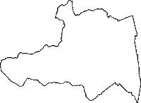 長野県北安曇郡松川村(まつかわむら)の白地図無料ダウンロード