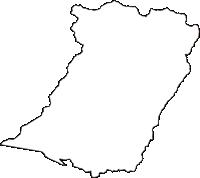長野県北安曇郡小谷村(おたりむら)の白地図無料ダウンロード