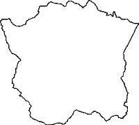 長野県上水内郡小川村(おがわむら)の白地図無料ダウンロード
