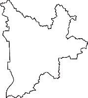 岐阜県岐阜市(ぎふし)の白地図無料ダウンロード