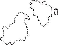 岐阜県大垣市(おおがきし)の白地図無料ダウンロード