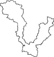 岐阜県関市(せきし)の白地図無料ダウンロード