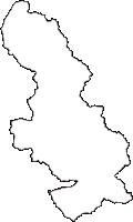岐阜県中津川市(なかつがわし)の白地図無料ダウンロード