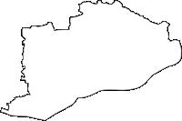 岐阜県各務原市(かかみがはらし)の白地図無料ダウンロード