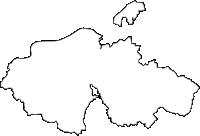 岐阜県可児市(かにし)の白地図無料ダウンロード