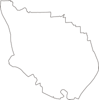 岐阜県瑞穂市(みずほし)の白地図無料ダウンロード