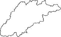 岐阜県飛騨市(ひだし)の白地図無料ダウンロード