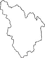 岐阜県郡上市(ぐじょうし)の白地図無料ダウンロード