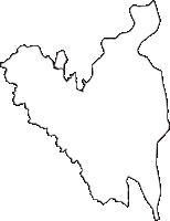岐阜県海津市(かいづし)の白地図無料ダウンロード