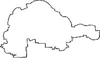 岐阜県羽島郡岐南町(ぎなんちょう)の白地図無料ダウンロード