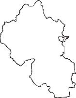 岐阜県不破郡垂井町(たるいちょう)の白地図無料ダウンロード