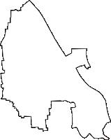 岐阜県安八郡神戸町(ごうどちょう)の白地図無料ダウンロード