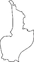 岐阜県安八郡安八町(あんぱちちょう)の白地図無料ダウンロード