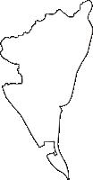 岐阜県揖斐郡大野町(おおのちょう)の白地図無料ダウンロード