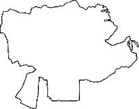 岐阜県加茂郡富加町(とみかちょう)の白地図無料ダウンロード