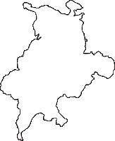 岐阜県加茂郡川辺町(かわべちょう)の白地図無料ダウンロード