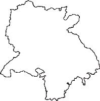 岐阜県加茂郡七宗町(ひちそうちょう)の白地図無料ダウンロード