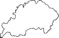 岐阜県加茂郡八百津町(やおつちょう)の白地図無料ダウンロード