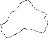 岐阜県加茂郡東白川村(ひがししらかわむら)の白地図無料ダウンロード