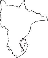 静岡県静岡市清水区(しみずく)の白地図無料ダウンロード