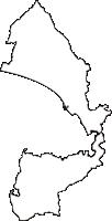 静岡県沼津市(ぬまづし)の白地図無料ダウンロード