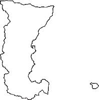 静岡県熱海市(あたみし)の白地図無料ダウンロード