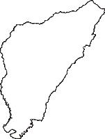 静岡県三島市(みしまし)の白地図無料ダウンロード