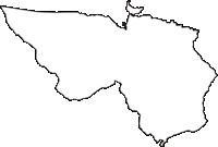 静岡県御殿場市(ごてんばし)の白地図無料ダウンロード