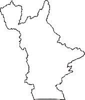 静岡県袋井市(ふくろいし)の白地図無料ダウンロード