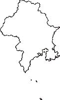 静岡県下田市(しもだし)の白地図無料ダウンロード