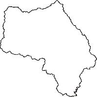 静岡県賀茂郡河津町(かわづちょう)の白地図無料ダウンロード