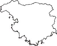 静岡県賀茂郡南伊豆町(みなみいずちょう)の白地図無料ダウンロード