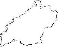 静岡県賀茂郡松崎町(まつざきちょう)の白地図無料ダウンロード