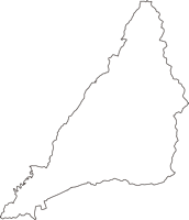 静岡県田方郡函南町(かんなみちょう)の白地図無料ダウンロード