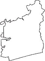 愛知県豊橋市(とよはしし)の白地図無料ダウンロード
