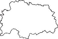 愛知県岡崎市(おかざきし)の白地図無料ダウンロード
