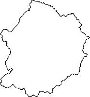 愛知県瀬戸市(せとし)の白地図無料ダウンロード
