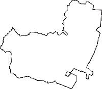 愛知県半田市(はんだし)の白地図無料ダウンロード